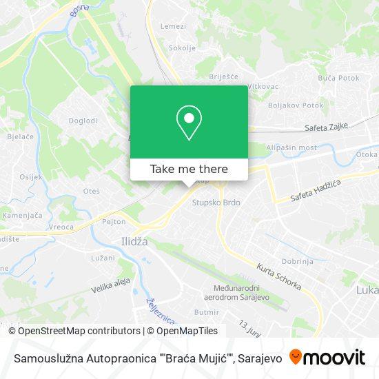 """Samousluzna Autopraonica """"Braća Mujić"""" map"""