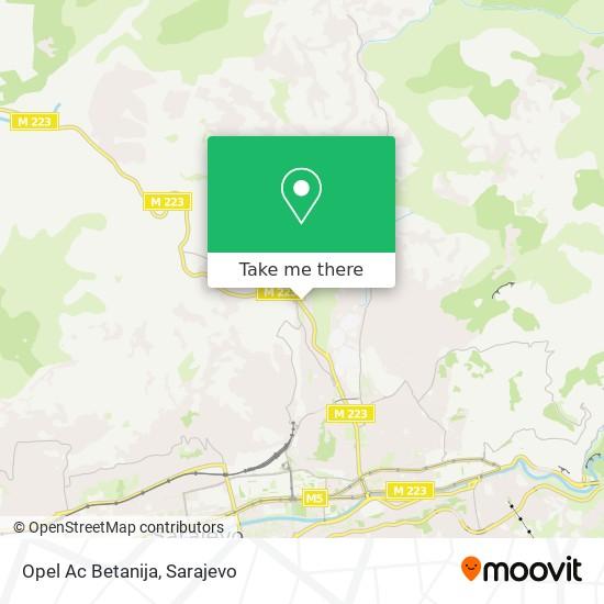 Opel Ac Betanija map