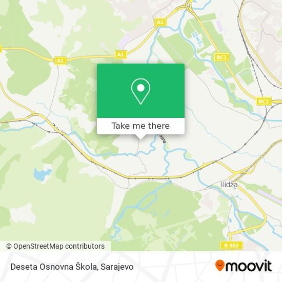Deseta Osnovna Škola map