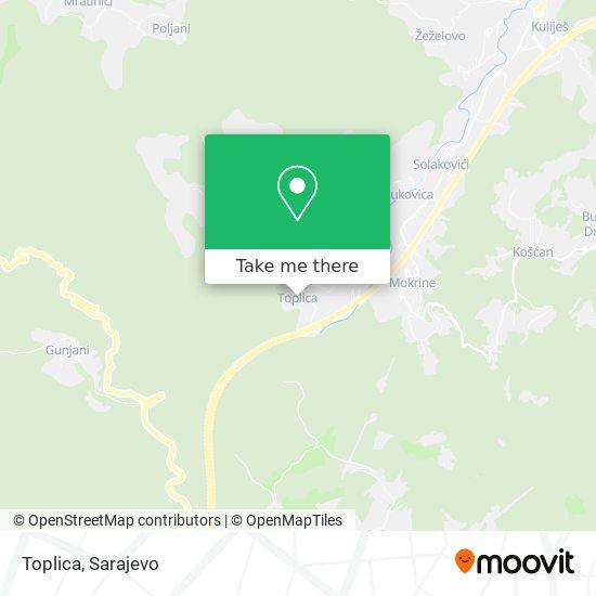 Toplica map