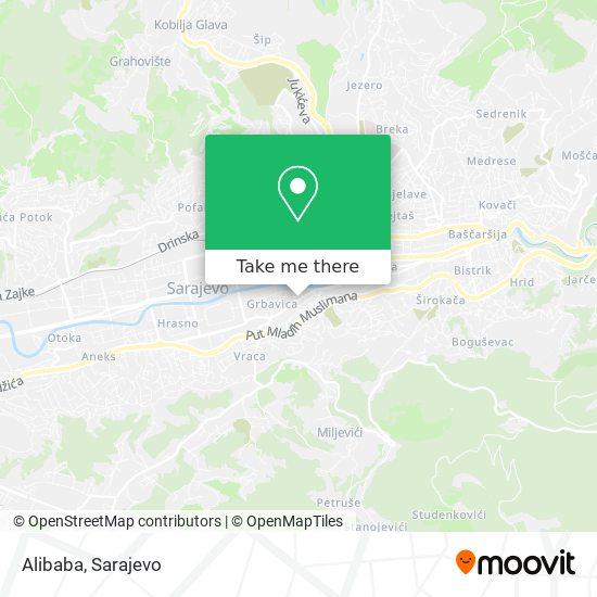 Alibaba map