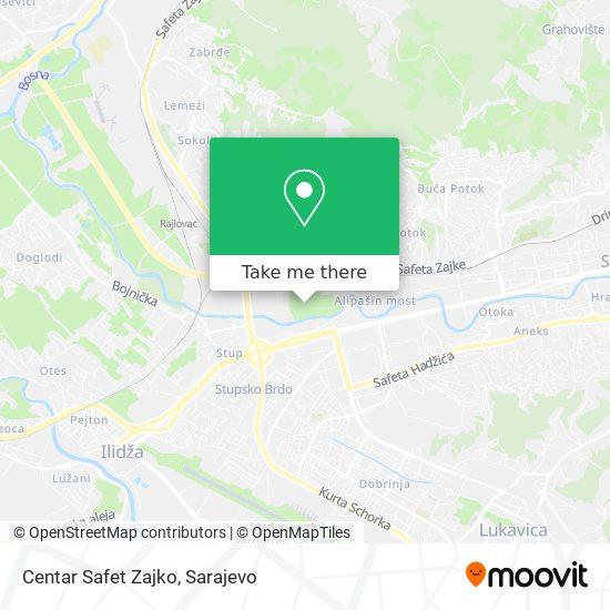 Centar Safet Zajko map