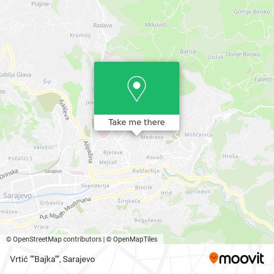 """Vrtić """"Bajka"""" map"""
