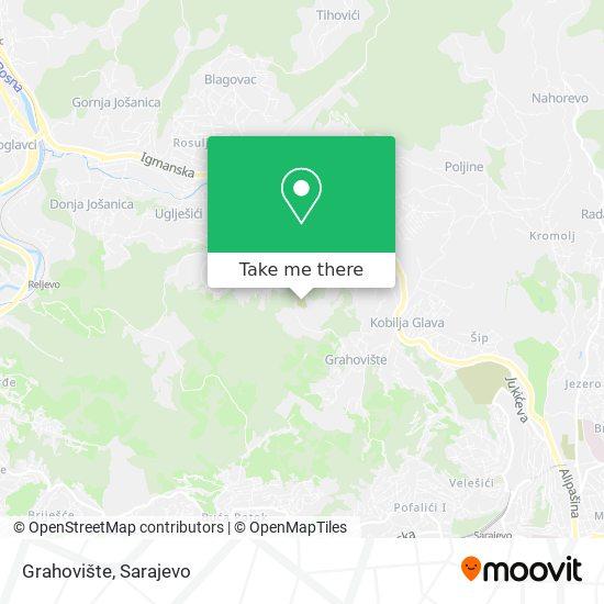 Grahovište map