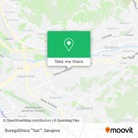 """Buregdžinica """"Sač"""" map"""