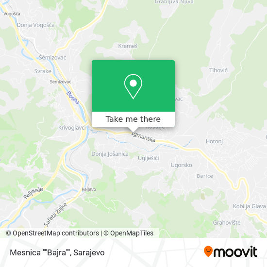 "Mesnica ""Bajra"" map"