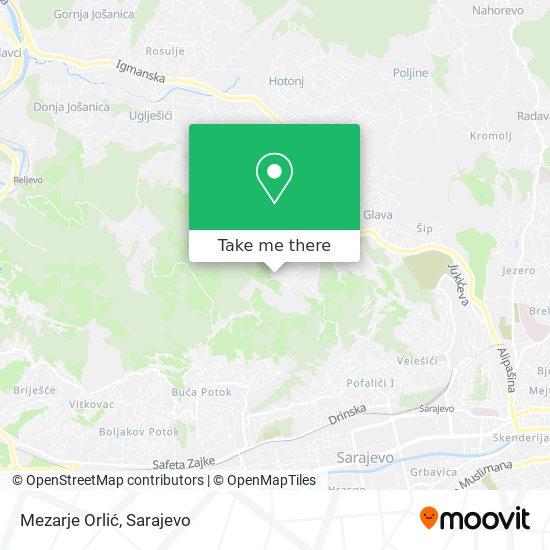 Mezarje Orlić map