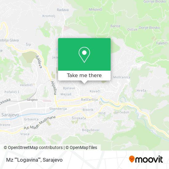 """Mz """"Logavina"""" map"""