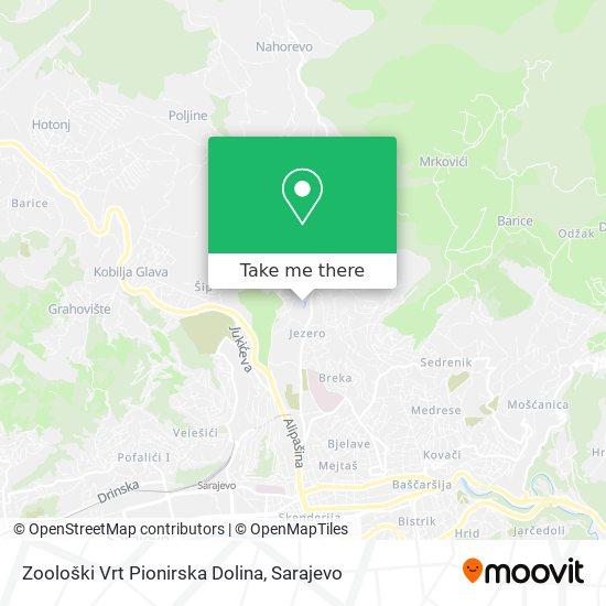 Pionirska Dolina map