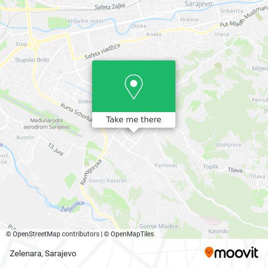 Zelenara map