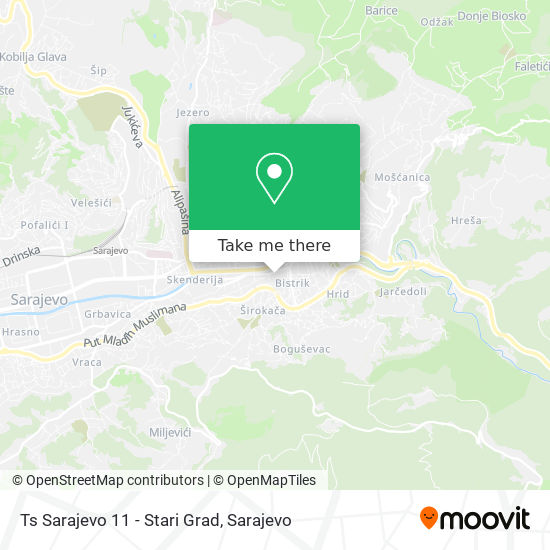 Ts Sarajevo 11 - Stari Grad map