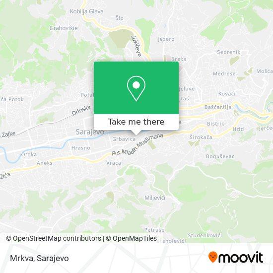 Ćevabdžinica Mrkva map
