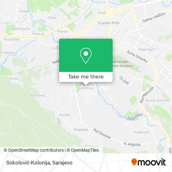 Sokolović-Kolonija map