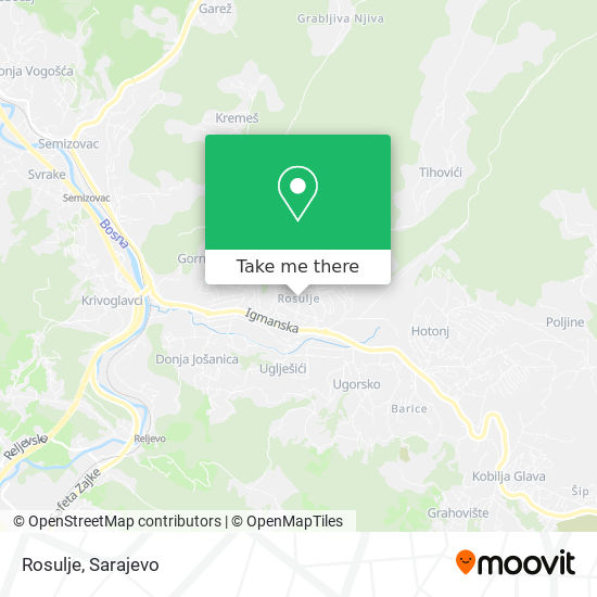 Rosulje map