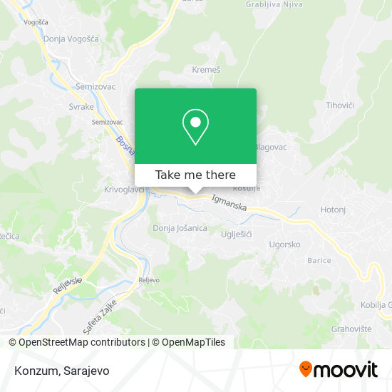 Konzum map