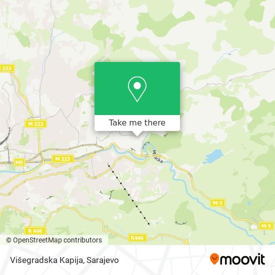 Višegradska Kapija map
