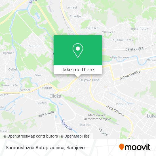 Samousluzna Autopraonica map