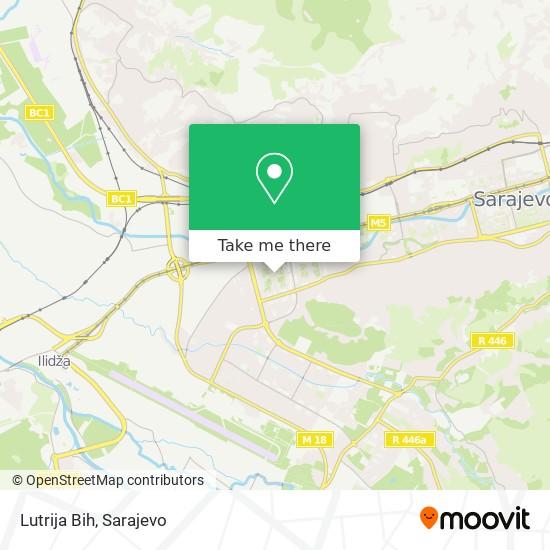 Lutrija Bih map