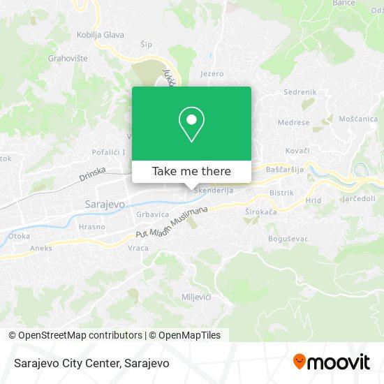 Sarajevo City Center map