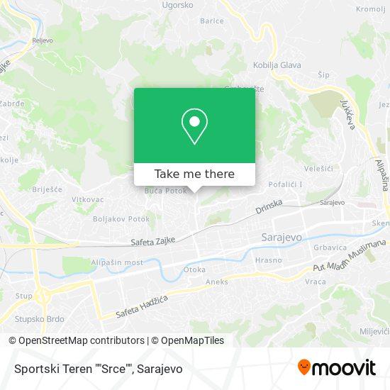 "Sportski Teren ""Srce"" map"