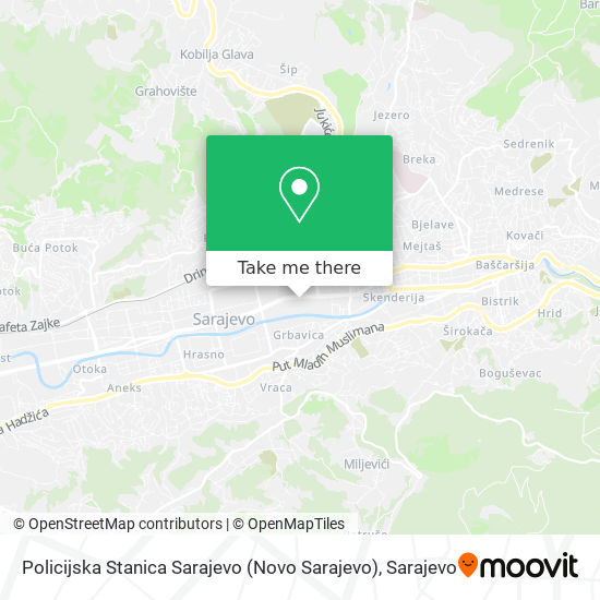 Pu Novo Sarajevo map
