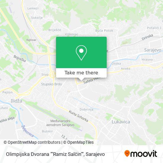Olimpijska Dvorana ,,Ramiz Salčin'' map
