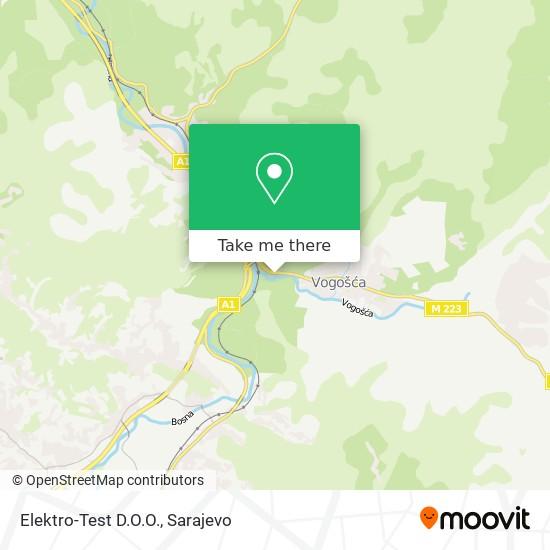 Elektro-Test D.O.O. map