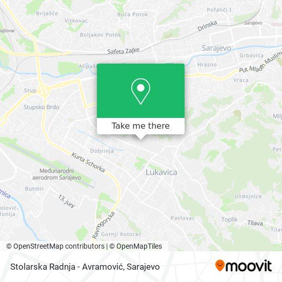 Stolarska Radnja - Avramović map