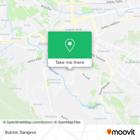 Butmir map