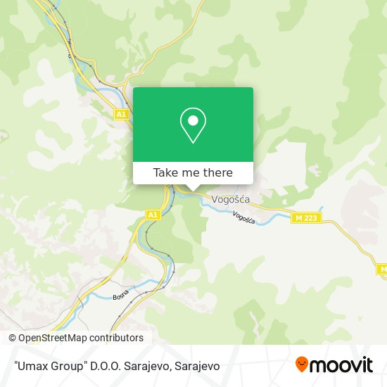 """Umax Group"" D.O.O. Sarajevo map"