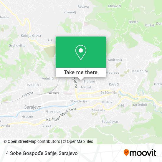 4 Sobe Gospode Safije map