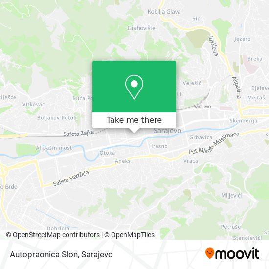 Autopraonica Slon map