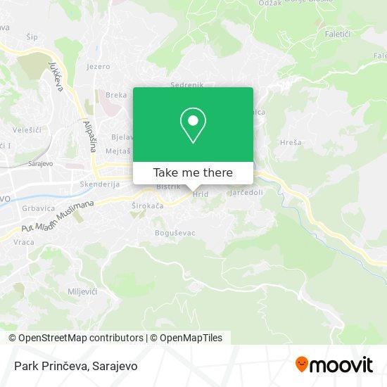Park Prinčeva map