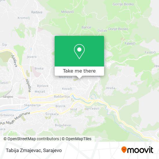 Tabija Zmajevac map
