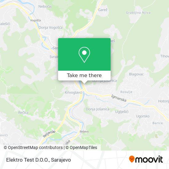 Elektro Test D.O.O. map