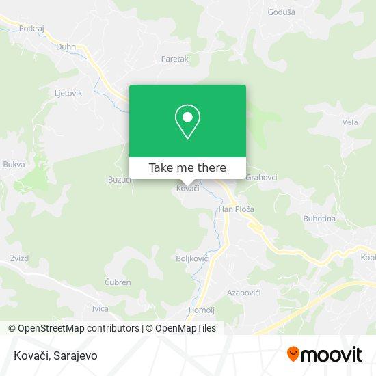 Kovači map
