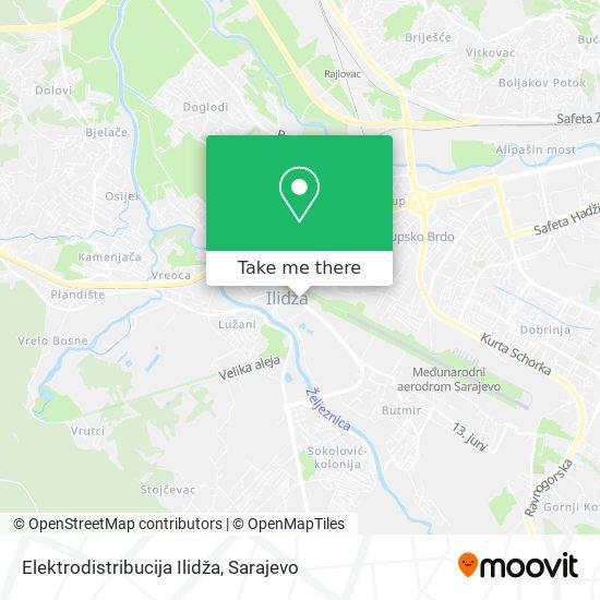 Elektrodistribucija Ilidža map