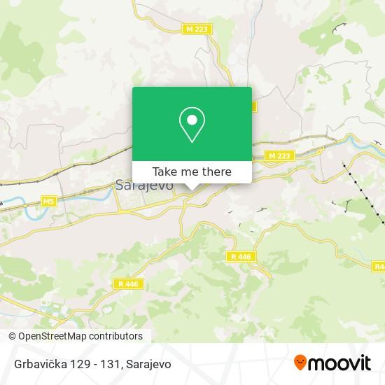 Grbavička 129 - 131 map