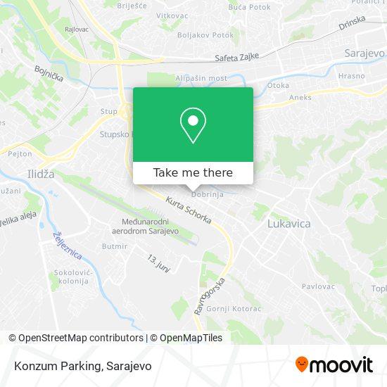 Konzum Parking map