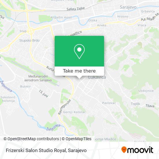 Frizerski Salon Studio Royal map