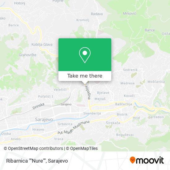 "Ribarnica ""Nure"" map"