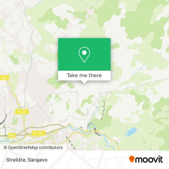 Strelište map
