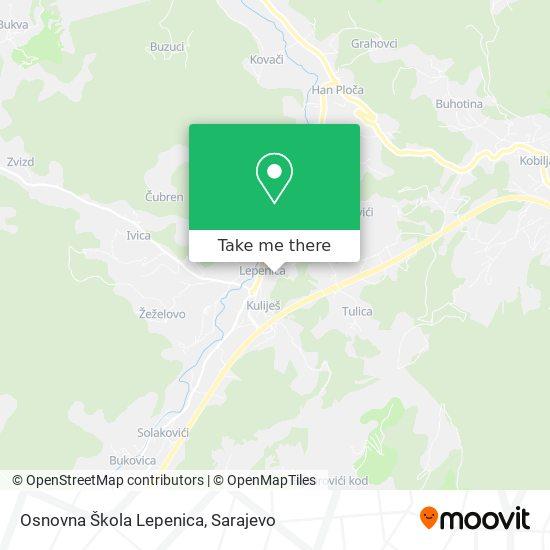 Osnovna Škola Lepenica map