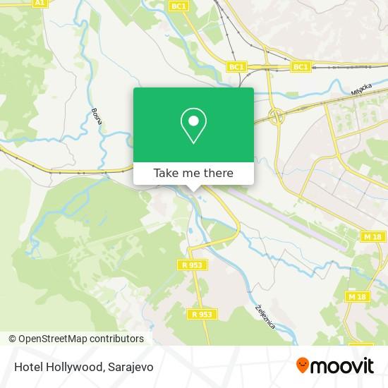 Hotel Hollywood map