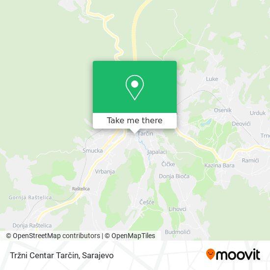Tržni Centar Tarčin map