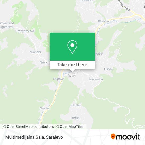 Multimedijalna Sala map