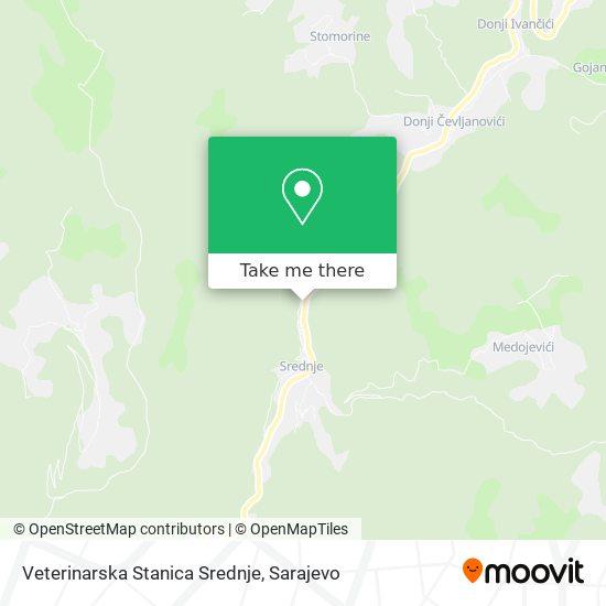 Veterinarska Stanica Srednje map