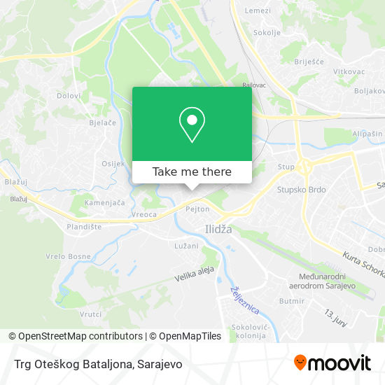 Trg Oteškog Bataljona map