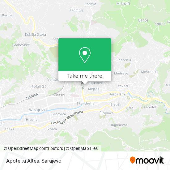 Apoteka Altea map