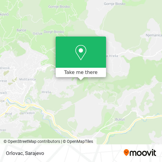 Orlovac map